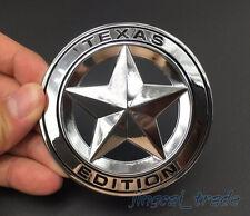 Texas Edition 3D Metall Chrom Rund Emblem Logo Chevrolet Silverado GMC Sierra