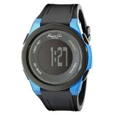 Analoge Armbanduhren mit Leder-Armband in Blau