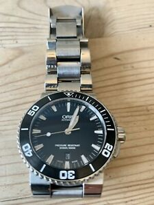Oris Aquis Automatic Mens Divers Date Watch 43mm Model 7653