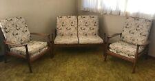 Retro Danish Style 1960's Sofa and 2 Lounge Chairs