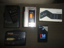 Lot 5 Portables Music Cassette Players/Walkman/Recorders For Repairs - Parts