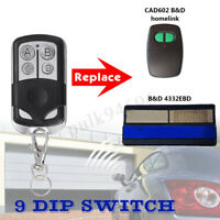 Garage Door Remote Control 433.92 Mhz For B&D Accent CAD602 062171 4332EBD AU