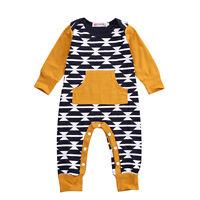 Newborn Toddler Baby Boy Girl Long Sleeve Romper Jumpsuit Sleepsuit Clothes US