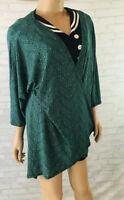 Lularoe Lindsay Open Cardigan Sweater Size Medium Green