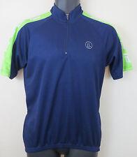 Cycling Blue Retro Jersey Top Shirt Race Bike Trikot Maglia Adult S Small