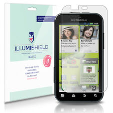 iLLumiShield Matte Screen Protector w Anti-Glare/Print 3x for Motorola DEFY+