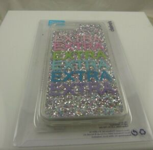 fits iPhone 6 plus, 7 & 8 + plus phone case glittery Extra extra multi color