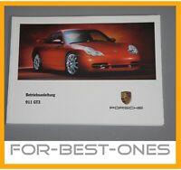 NEU Porsche 911 996 GT3 Betriebsanleitung Bedienungsanleitung Wartung Handbuch