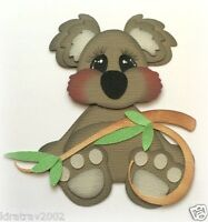 *NEW* PREMADE STUFFY KOALA ZOO ANIMAL PAPER PIECING MY TEAR BEARS KIRA