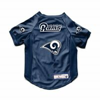 NEW LOS ANGELES RAMS DOG CAT DELUXE STRETCH JERSEY