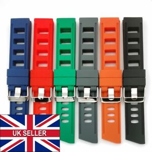 Top Quality Thick Silicone Rubber Watch Divers Strap Band Waterproof 20mm 22mm