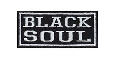 ' Black Soul ' Biker Heavy Rocker Patch Aufnäher Kutte Motorrad Badge Stickerei