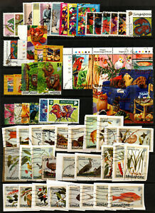 SINGAPORE selection of various good used issued from 2001 to 2004