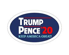 *Oval Car Magnet* Trump 2020 Trump Pence 20 TO447