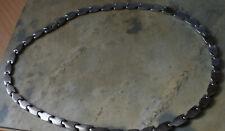 Damen Edelstahl Power Magnet Halskette Collier Farbe Silber 2015