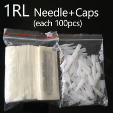 100 1r Needles Caps 1 rl Needle Tips Microblading For Tattoo Eyebrow Pen Machine