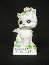 Vintage Josef Originals You're An Angel White Cat Kitten Ceramic Figurine