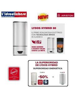 SCALDABAGNO A POMPA DI CALORE ARISTON LYDOS HYBRID 80 EU COD.- NEW ERP