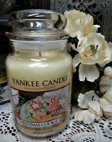 Yankee Candle Christmas Cookie 22 oz Jar Large Single One Wick Festive Holiday