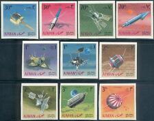 Ajman 1968 ** Mi.257/66 B Weltraum Raumfahrt Space Luna