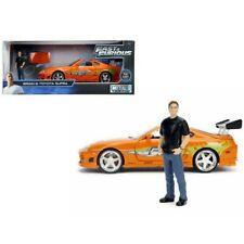 Brian`s Toyota Supra mit Figur Fast and & Furious 7 orange 1:24 Jada