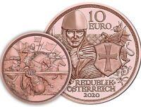 Österreich 10 Euro 2020 Tapferkeit Kettenhemd mit Schwert Kupfermünze