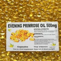 EVENING PRIMROSE OIL 500mg  60 Capsules One per day   Free UK Postage   (L)