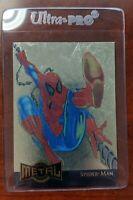1995 Marvel Metal - Gold Blaster Limited Edition Card 12 of 18 Spider-Man