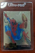 1995 Marvel Metal - Gold Blaster Limited Edition Card 12 of 18 Spider-Man