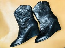 New Robert Cllergerie Real Snake Black Boots Size 40