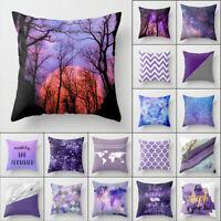 18'' purple Polyester pillow case sofa Home Decor waist cushion cover Sofa