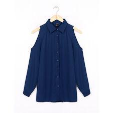 Women Chiffon Cold Off Shoulder Loose Casual Long Sleeve Tops Blouse Shirt
