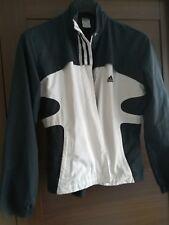 Adidas original jacket black and white size 10