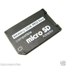 NEW MICRO SD TF TO MEMORY STICK PRO DUO ADAPTER FOR SONY PSP SLIM 2000 3000