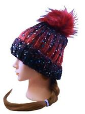 Speckled Ombre Pompom Knit Beanie!! Ribbed, Soft, Warm and Still Stylish!!