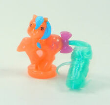 151 My Little Pony ~*Glowing Magic Petite Coral Pink Aqua Blue Bed STUNNING!*~