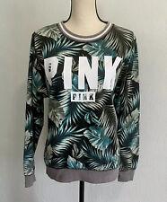 Victoria Secret Sexy PINK Limited Edition Palm Leaf Slouchy  Sweatshirt  XS