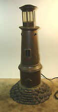 "Copper Lighthouse Table Lamp 18"" tall"
