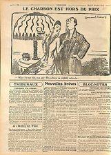 Humour Caricature Charbon Hors de Prix Bague Dessin Emmanuel Barcet WWI 1915