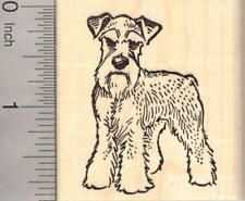 Miniature Schnauzer Dog with Natural Ears Rubber G20008 Wm