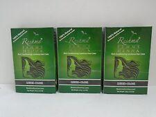 Reshma Henna Powder RAVEN BLACK for Hair HERBAL NATURAL Powder - Lot of 3