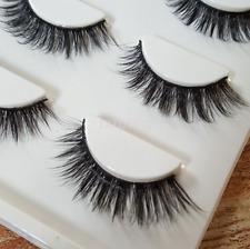3PAIR Luxurious 100% Real Mink Elegant Cross Thick False Eyelashes 3D Eye Lashes