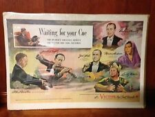 Victrola Ad Rca Victor Waiting For Your Cue Ad 1944 Red Seal Records Violin