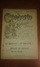 DE ANGELIS FROU FROU GAVOTTA SPARTITO PER MANDOLINO CHITARRA IL CONCERTO 15 1897