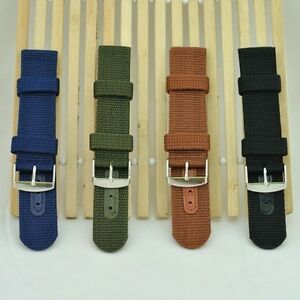 18mm 20mm 22mm 24mm Watchband Canvas Bands For Watches Replace Watch Straps