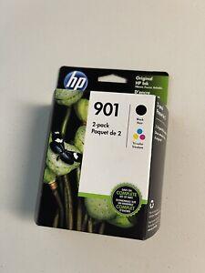 Genuine HP 901 Black & TriColor Ink Cartridges CN069FN Combo Pack Dated 2022
