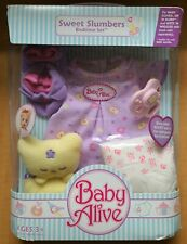 New Baby Alive SWEET SLUMBERS BEDTIME SET Pacifier,Dress,Diaper,Blankie,Booties