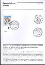 ITALIA 2010 CORRIERE ADRIATICO BOLLETTINO COMPLETO DI FRANCOBOLLI ANNULLO FDC