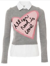Alice + Olivia Nikia The Beatles All You Need Is Love Sweater Shirt Size XS NWT