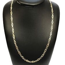 """9Carat (9ct) Gold Fancy Link Chain - Yellow Gold - Solid 0 24"""" Long - 11.78g"""